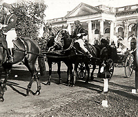 BNPS.co.uk (01202 558833)<br /> Pic: PhilYeomans/BNPS<br /> <br /> Leaving from Governor's House - His daughter Cicely Winifred Goschen married Major Edward Bertram Portal in a spectacular wedding in Madras in November 1926.<br /> <br /> Last Days of the Raj - A fascinating family album from one of the last Viceroy's of India reveal Britain's 'Jewel in the Crown' in all its splendour.<br /> <br /> The family album of Viscount George Goschen has been unearthed after 90 years, and provide's an amazing snapshot of the pomp and pageantry of a wealthy and powerful British family in India in the 1920s and 30's.<br /> <br /> They show the Governor of Madras and his family enjoying a lavish lifestyle of parades, banquets and hunting and horse racing in the last decades of the Raj.<br /> <br /> At the time, Gandhi was organising peasants, farmers and labourers to protest against excessive land-tax and discrimination. <br /> <br /> The album consists of some 300 large photographs. They have remained in the family for 90 years but have now emerged for auction following a house clearance and are tipped to sell for &pound;200.