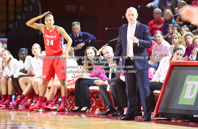 Marist defeats Fairfield 64-63 in a MAAC conference game on February 21, 2016 at McCann Arena in Poughkeepsie, New York.  (Bob Mayberger/Eclipse Sportswire)