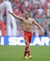 Fussball  1. Bundesliga  Saison 2013/2014  3. Spieltag FC Bayern Muenchen - 1. FC Nuernberg       24.08.2013 JUBEL FC Bayern Muenchen; Torschuetze zum 1-0 Franck Ribery
