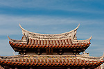 Swallow tail roof of Longshan Temple's front gate, Lugang, Changhua County, Taiwan