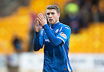 St Johnstone v Motherwell&hellip;20.02.16   SPFL   McDiarmid Park, Perth<br />Scorer of saints first goal David Wotherspoon applauds the fans<br />Picture by Graeme Hart.<br />Copyright Perthshire Picture Agency<br />Tel: 01738 623350  Mobile: 07990 594431