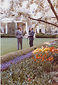 Entertainer Bob Hope and United States President Richard M. Nixon in the Rose Garden of the White House in Washington, D.C. April 20, 1973. .Credit: White House via CNP