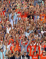 Sept. 3, 2011 - Charlottesville, Virginia - USA; Virginia Cavaliers fans cheer during an NCAA football game against William & Mary at Scott Stadium. Virginia won 40-3. (Credit Image: © Andrew Shurtleff