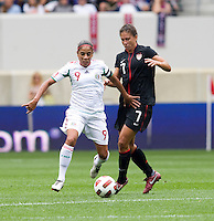 Shannon Boxx, Maribel Dominguez. The USWNT defeated Mexico, 1-0, during the game at Red Bull Arena in Harrison, NJ.