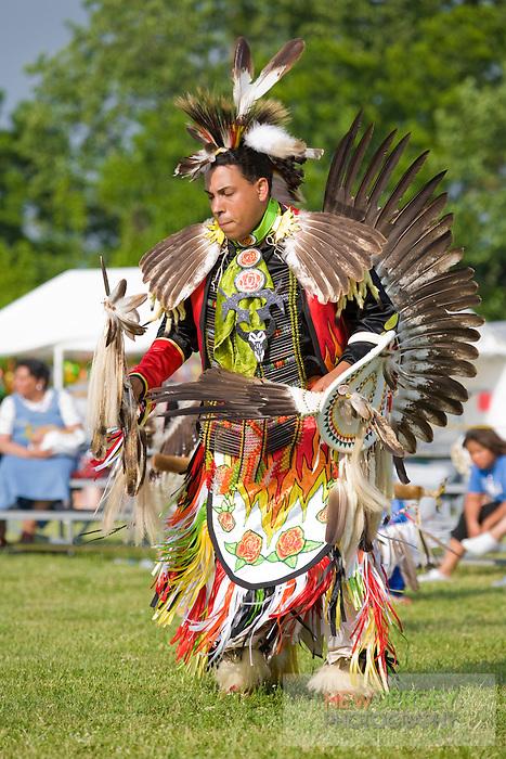 Traditional Warrior Dancer, Nanticoke Lenni-Lenapi Indian Pow Wow