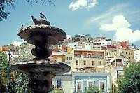 Fountain in the Plazuela San Fernando in the Spanish colonialcity of Guanajuato, Mexico