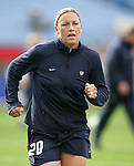 14 April 2007: United States forward Abby Wambach, pregame. The United States Women's National Team defeated the Women's National Team of Mexico 5-0 at Gillette Stadium in Foxboro, Massachusetts in an international friendly game.
