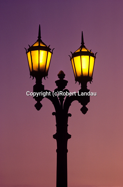 Old style street light in Hollywood, CA