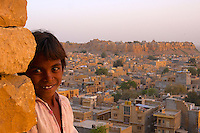 Jaisalmer, the &quot;Golden City,&quot; is located on the westernmost frontier of India in the state of Rajasthan. Close to the Pakistan border, the city is known for its proximity to the Thar Desert.<br /> <br /> The city is dominated by the Jaisalmer Fort, also known as Sonar Qila (Golden Fort). Unlike most forts in India, the Jaisalmer Fort is a living fort. There are shops, hotels and age old havelis (homes) inside the fort area where families have lived for generations.