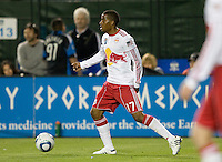 Jeremy Hall of Red Bulls in action during the game against the Earthquakes at Buck Shaw Stadium in Santa Clara, California.  San Jose Earthquakes defeated New York Red Bulls, 4-0.