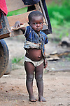 A girl in Karonga, a town in northern Malawi.
