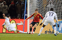 Clint Dempsey of USA scores his side's second goal. USA defeated Spain 2-0 during the semi-finals of the FIFA Confederations Cup at Free State Stadium in Manguang/Bloemfontein, South Africa on June 24, 2009..
