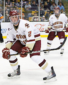 Brian Dumoulin (BC - 2) - The Boston College Eagles defeated the Northeastern University Huskies 5-4 in their Hockey East Semi-Final on Friday, March 18, 2011, at TD Garden in Boston, Massachusetts.