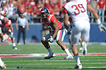 Ole Miss' Jamal Mosley (17) vs. Arkansas at Vaught-Hemingway Stadium in Oxford, Miss. on Saturday, October 22, 2011. .