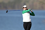 BROWNS SUMMIT, NC - APRIL 02: Notre Dame's Jordan Ferreira tees off on the 16th hole. The third round of the Bryan National Collegiate Women's Golf Tournament was held on April 2, 2017, at the Bryan Park Champions Course in Browns Summit, NC.
