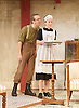 The Roundabout <br /> by JB Priestley <br /> directed by Hugh Ross<br /> at Park Theatre, London, Great Britain <br /> 24th August 2016 <br /> Press photocall <br /> <br /> <br /> <br /> Steven Blakeley as <br /> Comrade Staggles <br /> <br /> <br /> Annie Jackson as Alice <br /> <br /> <br /> <br /> Photograph by Elliott Franks <br /> Image licensed to Elliott Franks Photography Services