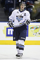 QMJHL (LHJMQ) hockey profile photo on Rimouski Oceanic Jean-Francois Plante October 6, 2012 at the Colisee Pepsi in Quebec city.