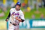 2 March 2010: New York Mets' center fielder Jesus Feliciano on the base path against the Atlanta Braves during the Opening Day of Grapefruit League play at Tradition Field in Port St. Lucie, Florida. The Mets defeated the Braves 4-2 in Spring Training action. Mandatory Credit: Ed Wolfstein Photo