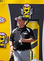 Sep 18, 2016; Concord, NC, USA; NHRA journalist Bobby Bennett during the Carolina Nationals at zMax Dragway. Mandatory Credit: Mark J. Rebilas-USA TODAY Sports