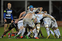 Ben White of Exeter Braves in action at a maul. Aviva A-League match, between Bath United and Exeter Braves on November 30, 2015 at the Recreation Ground in Bath, England. Photo by: Patrick Khachfe / Onside Images