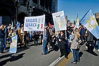 Roma 25 Aprile 2014<br /> Manifestazione per il 69&deg; anniversario della liberazione dal Nazifascismo. La brigata ebraica<br /> Roma 25 April 2014. <br /> Demonstration for the 69th anniversary of liberation from Nazi-fascism . The Jewish Brigade