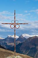 Summit cross in Swiss Alps