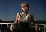 Actress Christina Ricci photographed December 15, 2007 at the Four Season Hotel in Los Angeles. Her new film, Penelope, a sort of modern day fairy tale in which a curse on Ricci's character (she has a pig's snout for a nose) is broken not by marrying her Prince Charming  but by coming to love herself as she is.