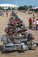 Madison, Wisconsin, from July 30th to August 3rd 1989. The Wing Ding Honda Convention: No so young but proud to own a Gold Wing Honda (made in USA) the most powerful motorcycle ever build, 1500cc, water cooled engine, with a rear gear.<br /> The machine is also very safe to ride. 7000 Gold Wingers gathered and had their Elegance Contest, best decorated, best original, best of show, best couple, best club etc. Bikers at the parade and on the road around Madison, WI.