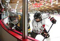 Willie Hess<br /> Men's Hockey play UW Superior in Hunt Arena  December 6, 2013. <br /> Kathy M Helgeson/UWRF Communications