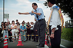 Japan - General elections campaign of Democratic Party of Japan (Street theatre)