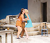 Sunset at the Villa Thalia <br /> by Alexi Kaye Campbell<br /> at Dorfman Theatre, National Theatre, Southbank, London, Great Britain <br /> <br /> 31st May 2016 <br /> press photocall <br />  <br /> <br /> directed by Simon Godwin<br />  <br /> <br /> <br /> Sam Crane as Theo <br /> <br /> Elizabeth McGovern as June <br /> <br /> <br /> Pippa Nixon as Charlotte <br /> <br />  <br /> <br /> Photograph by Elliott Franks <br /> Image licensed to Elliott Franks Photography Services