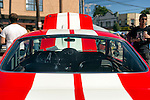Sept. 15, 2012 - New Hyde Park, New York, U.S. - A Mustang GT350, red with white stripes, is at the New York AutoFest at New Hyde Park Car Show and Street Fair.