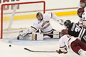 Joe Woll (BC - 31), JD Dudek (BC - 15), Robbie Hennessey (PC - 25), Ron Greco (BC - 28) - The Boston College Eagles defeated the visiting Providence College Friars 3-1 on Friday, October 28, 2016, at Kelley Rink in Conte Forum in Chestnut Hill, Massachusetts.The Boston College Eagles defeated the visiting Providence College Friars 3-1 on Friday, October 28, 2016, at Kelley Rink in Conte Forum in Chestnut Hill, Massachusetts.