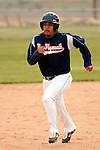 New Plymouth's Armondo Garcia runs to third against Vale at Cammann Field on April 28, 2011.