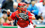 1 May 2011: Washington Nationals catcher Ivan Rodriguez in action against the San Francisco Giants at Nationals Park in Washington, District of Columbia. The Nationals defeated the Giants 5-2. Mandatory Credit: Ed Wolfstein Photo