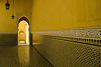 Archways in the Mausoleum of Moulay Ismail, Meknes, Morocco