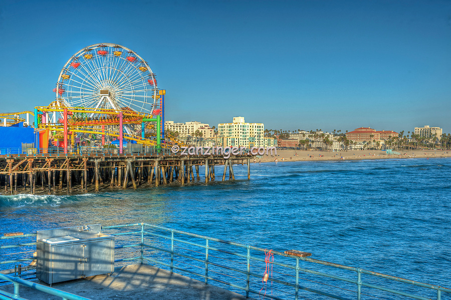 Santa Monica beach, Amusement Park, Roller Coaster, Over Water, Santa Monica Pier, Loews Hotel