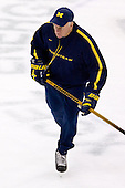 Red Berenson (Michigan Head Coach) takes part in the Wolverines' morning skate at the Xcel Energy Center in St. Paul, Minnesota, on Friday, October 12, 2007, during the Ice Breaker Invitational.