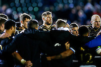 Dave Attwood of Bath Rugby looks on in a post-match huddle. European Rugby Champions Cup match, between Bath Rugby and Leinster Rugby on November 21, 2015 at the Recreation Ground in Bath, England. Photo by: Rogan Thomson / JMP for Onside Images