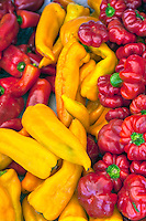Assorted Red, Yellow Peppers, Fresh, Vegetables, Farm-fresh produce
