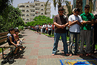 Gaza City, June 4, 2010.Friday prayer in one of the city mosqs.