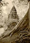 Victory Gate at Angkor Thom, Cambodia - Infrared Image