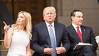 WASHINGTON, DC - JULY 23: Ivanka Trump, Donald Trump and Mayor Vincent Gray at groundbreaking ceremony for the Trump International Hotel on July 23, 2014 in Washington, D.C. Photo Credit: RTNMelvin/MediaPunch