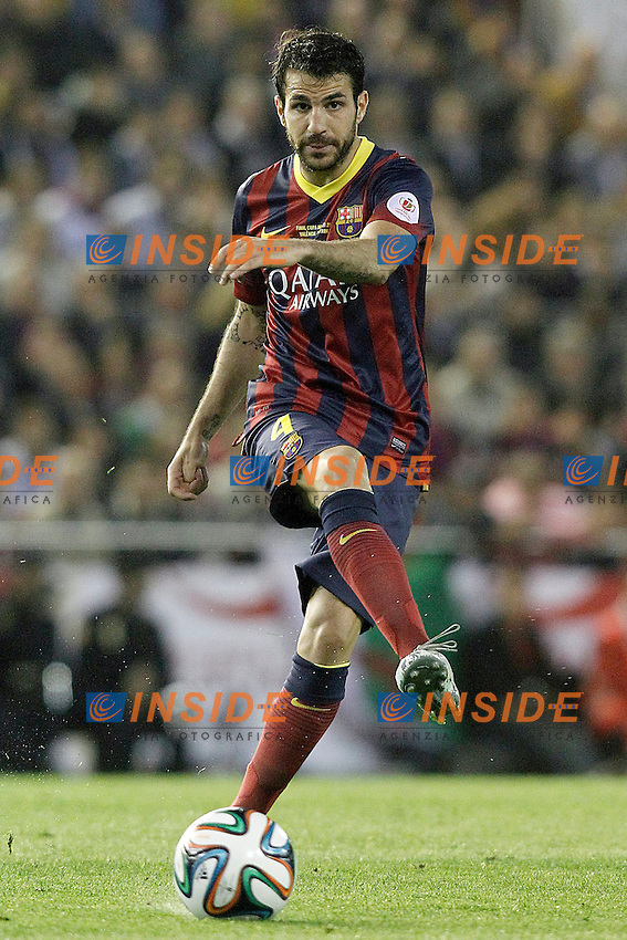 FC Barcelona's Cesc Fabregas during spanish KIng's Cup Final match.April 16,2014. (ALTERPHOTOS/Acero) <br /> Finale Coppa del Re<br /> Real Madrid Barcellona <br /> Foto Insidefoto