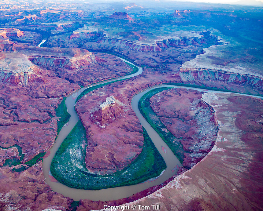 Green River in Stillwater Canyon, Canyonlands National Park, Utah, Turks Head Formation