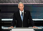 United States Senator Ron Johnson (Republican of Wisconsin) makes remarks at the 2016 Republican National Convention held at the Quicken Loans Arena in Cleveland, Ohio on Tuesday, July 19, 2016.<br /> Credit: Ron Sachs / CNP<br /> (RESTRICTION: NO New York or New Jersey Newspapers or newspapers within a 75 mile radius of New York City)