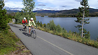 NWA Democrat-Gazette/FLIP PUTTHOFF <br /> The Mowrys ride along Lake Dillon     September 2015      near Frisco, Colo.