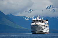 """pu50469-D. small """"cruise ships"""" offer an intimate view of Alaska, USA, Pacific Ocean..Photo Copyright © Brandon Cole. All rights reserved worldwide.  www.brandoncole.com..This photo is NOT free. It is NOT in the public domain. This photo is a Copyrighted Work, registered with the US Copyright Office. .Rights to reproduction of photograph granted only upon payment in full of agreed upon licensing fee. Any use of this photo prior to such payment is an infringement of copyright and punishable by fines up to  $150,000 USD...Brandon Cole.MARINE PHOTOGRAPHY.http://www.brandoncole.com.email: brandoncole@msn.com.4917 N. Boeing Rd..Spokane Valley, WA  99206  USA.tel: 509-535-3489"""