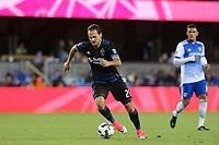 San Jose, CA - Friday April 14, 2017: Marco Ureña  during a Major League Soccer (MLS) match between the San Jose Earthquakes and FC Dallas at Avaya Stadium.