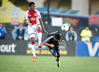 Santa Clara, Ca - Saturday, 27, 2013: The San Jose Earthquakes defeated the Portland Timbers 2-1 at Buck Shaw Stadium.
